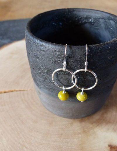 boucles d_oreille perle moutarde_