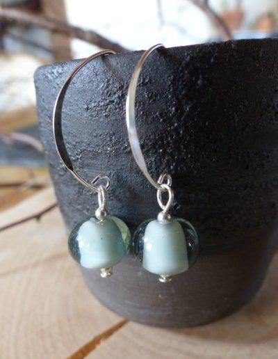 boucles d_oreille ovale perle vert pâle_