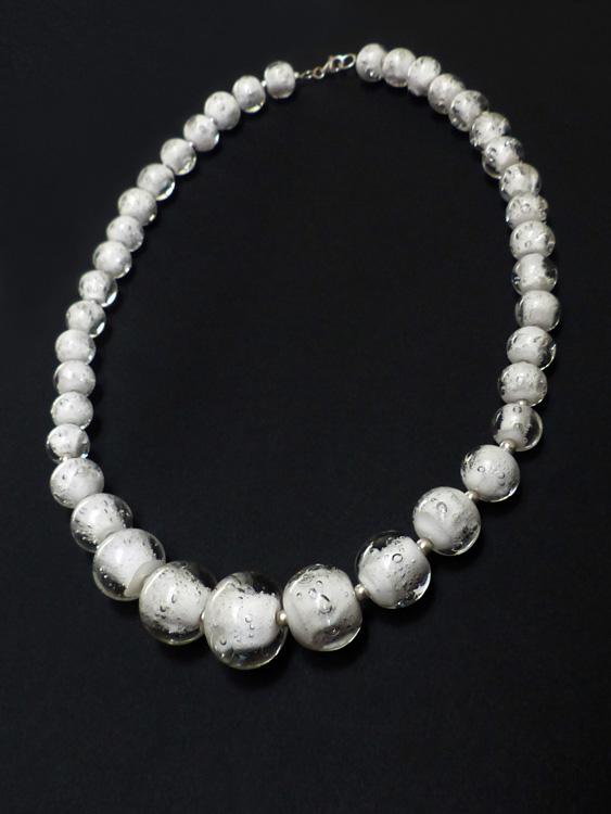 marietellier_collier lumen perle blanche à bulles
