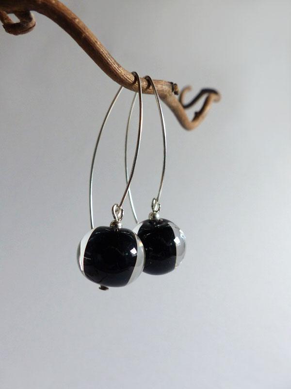 marie tellier_collier tige perle noire et transparente
