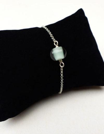 marie tellier_bracelet perle de verre bleu vert